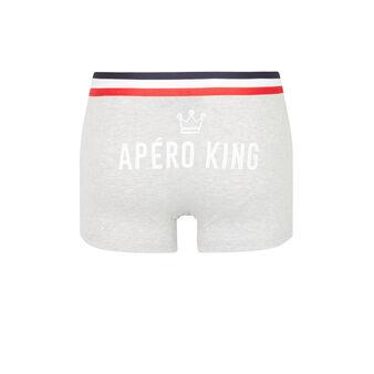 Graue boxershorts aperokingiz grey.