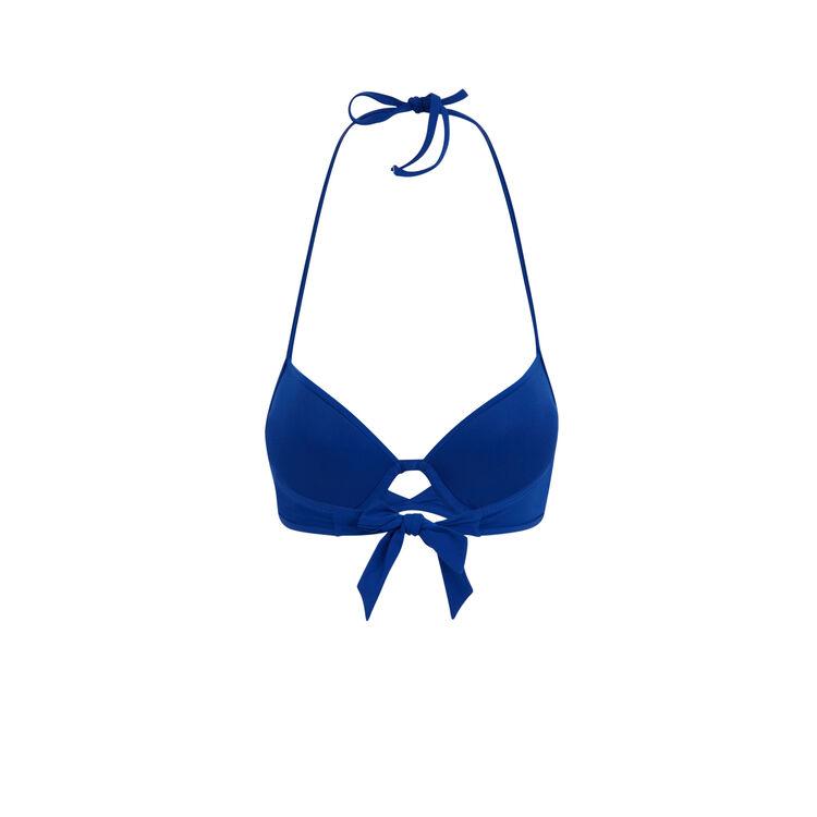 Niebieska góra kostiumu kąpielowego typu push gabiz;