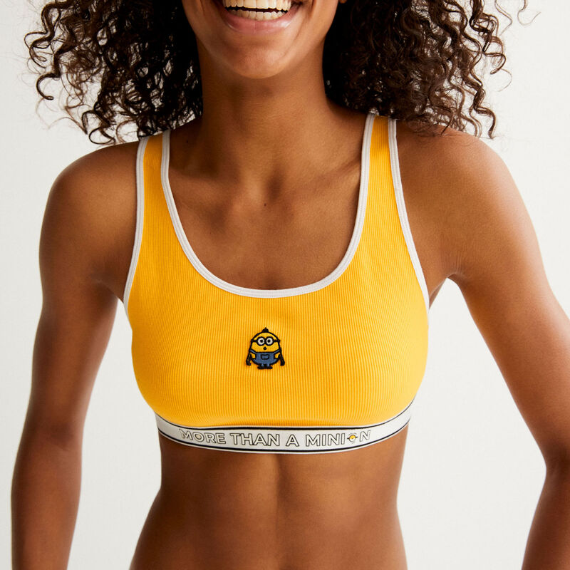 Les Minions® bra with elastic detailing - yellow;