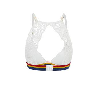 New dynastiz white triangle cup bra white.