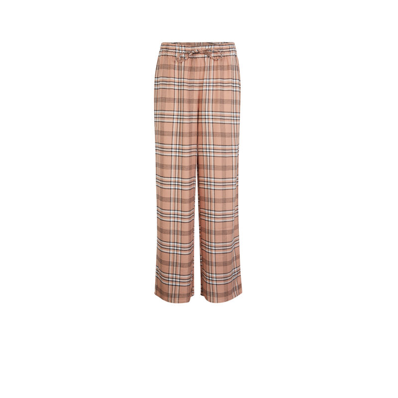 Checked trousers - pink;