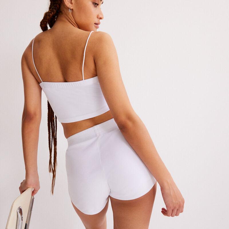 velvet shorts - white;