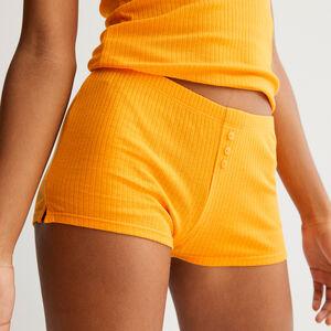 короткие однотонные шорты - манговый