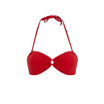 Красный верх купальника бандо mykoniz red.