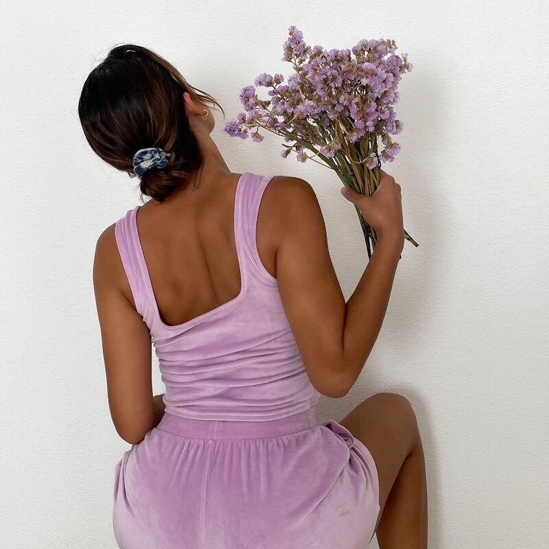 velvet bra - lilac;
