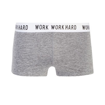 Cavaniz grey marl sports shorts grey.