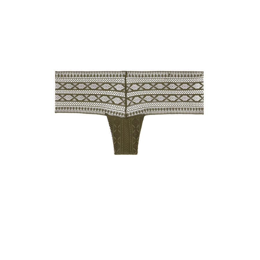 Трусики-шорты цвета хаки elenoriz;