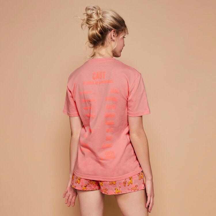 Szorty w kolorze różu antycznego toplioniz;