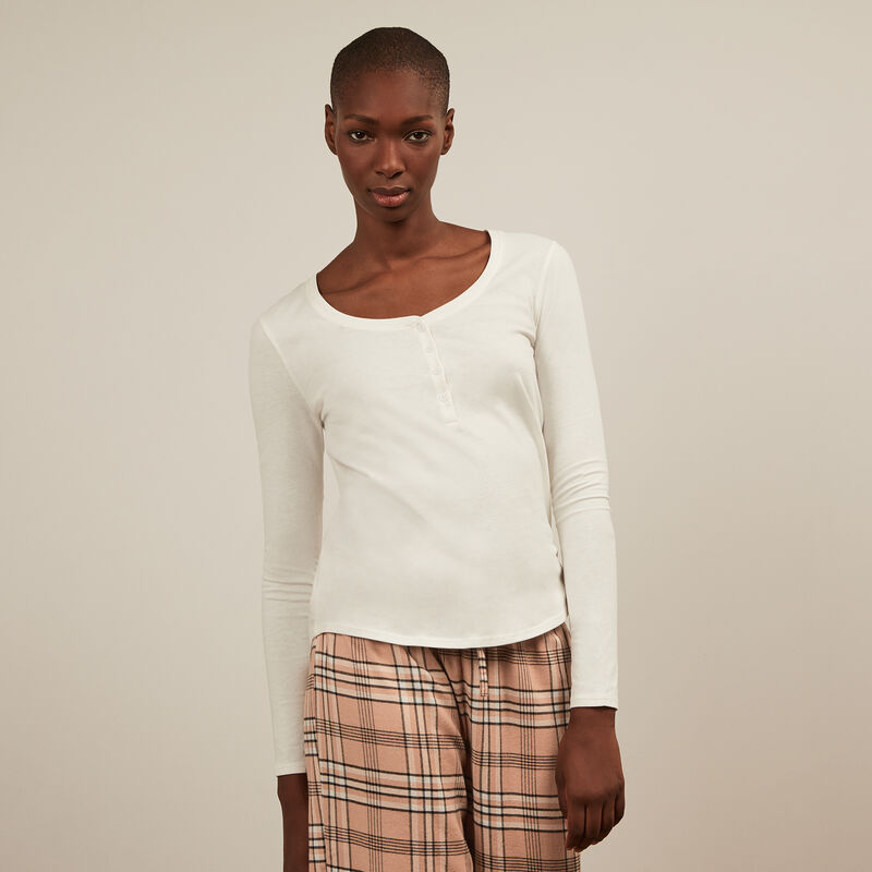 Long-sleeved top - white;