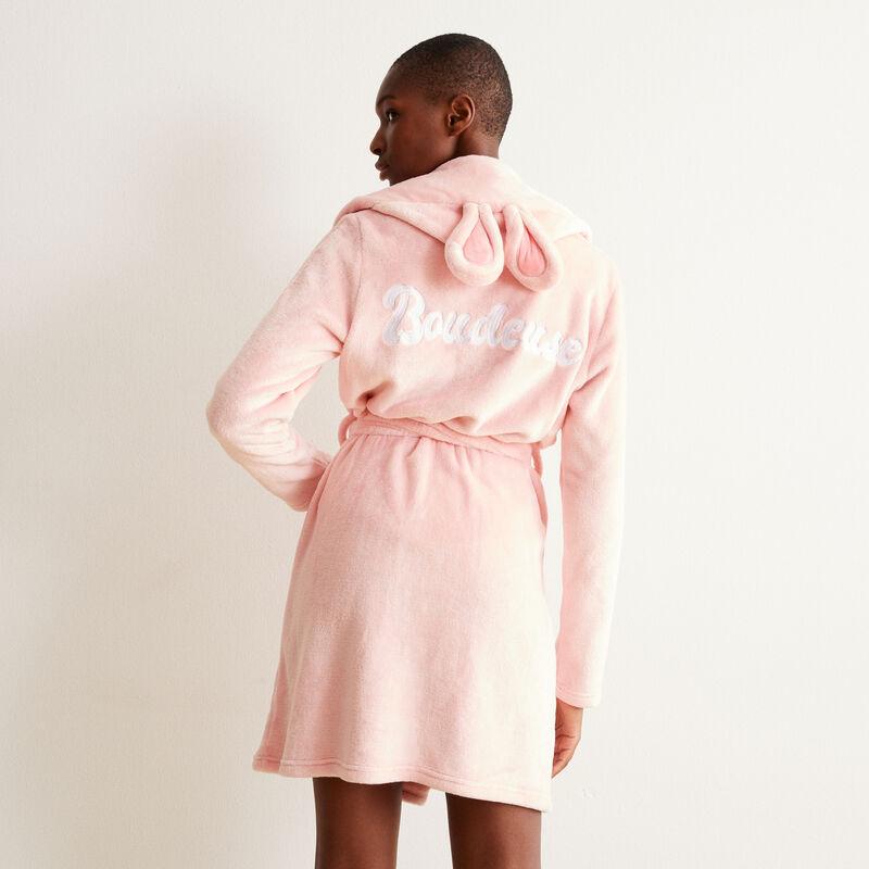 """флисовый халат """"зайка-ворчунья"""" - розовый;"""