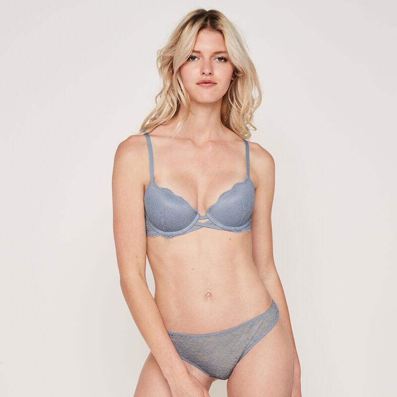 Everydayiz blue-grey push-up bra;