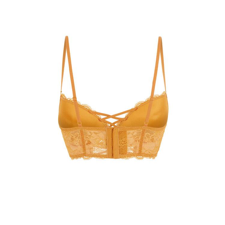 Ochre flirtiz push-up bustier bra;