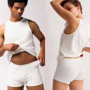 Plain jersey unisex shorts - beige