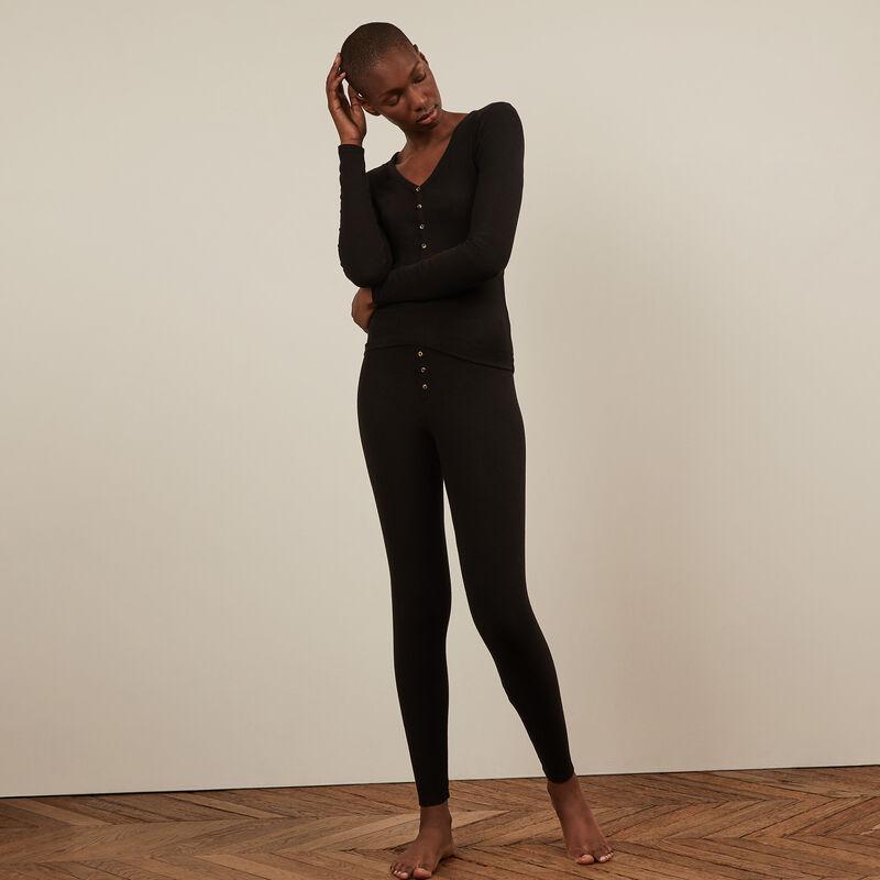 Long-sleeved top - black;