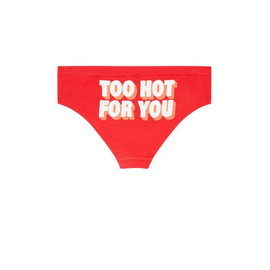 Красные трусики-шорты engtrobonniz;
