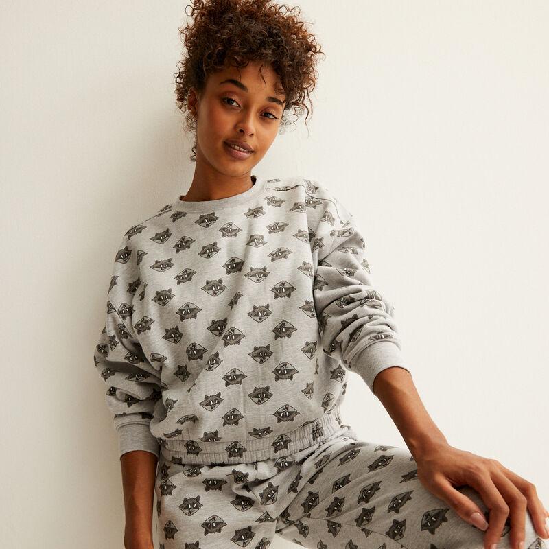 meeko fleece sweatshirt - grey;