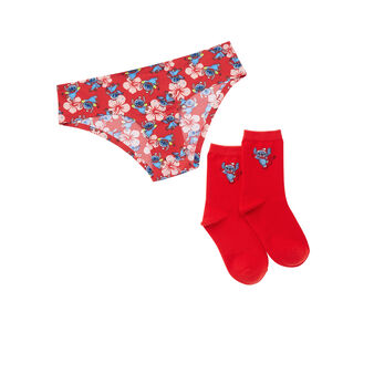 Stitchpiz women's red cup set red.